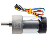 70:1 Metal Gearmotor 37Dx70L mm 24V with 64 CPR Encoder (Helical Pinion) Pololu 4694