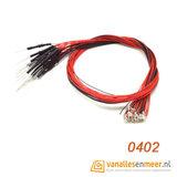 SMD 0402 led met kabel 20cm 12v 5 stuks