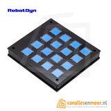 Enclosure for keypad 4x4, acrylic, kit Black