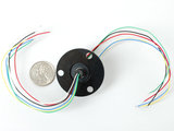 Slip Ring with Flange - 22mm diameter, 6 wires, max 240V @ 2A Adafruit 736_8