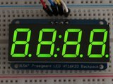 "0.56"" 4-Digit 7-Segment Display w/I2C Backpack Groen adafruit 880_8"