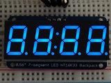 "0.56"" 4-Digit 7-Segment Display w/I2C Backpack Blauw adafruit 881_8"