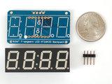 "0.56"" 4-Digit 7-Segment Display w/I2C Backpack Wit adafruit 1002_7"