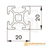 Aluminium T-sleuf Profiel 20x20 lengte 100cm_8