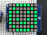 8x8 Ultra Bright Square Green LED Matrix + Backpack  Adafruit 1856_8