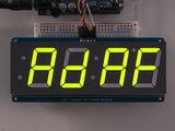 "1.2"" 4-Digit 7-Segment Display w/I2C Backpack - Green  Adafruit 1268_8"