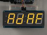 "1.2"" 4-Digit 7-Segment Display w/I2C Backpack - Yellow  Adafruit 1269_8"