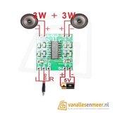 5V Amplifier Board Class D 2x3W Mini PAM8403 Audio Module_7