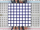 "1.2"" 8x8 Matrix Square Pixel - White  Adafruit 1821_8"