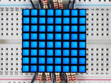 "1.2"" 8x8 Matrix Square Pixel - Blue   Adafruit 1817_8"