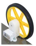 180:1 Mini Plastic Gearmotor, Offset 3mm D-Shaft Output Pololu 1594_7