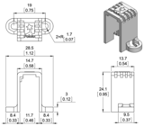 Mini Plastic Gearmotor Bracket Pair - Tall  Pololu 2681
