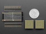 """0.8"""" 8x16 LED Matrix FeatherWing Display Kit - White Adafruit 3149"""