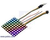 Addressable RGB 8x8-LED Flexible Panel, 5V, 10mm Grid  Pololu 2532