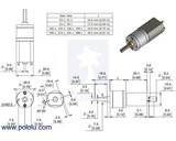 4156:1 Metal Gearmotor 20Dx44L mm 6V with Extended Motor Shaft Pololu 3468