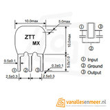 Ceramic resonator 12MHz 3 pin ZTT 12MHZ