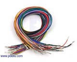 Wires Pre-crimped Terminals 50-Piece 10-Color  M-M 60cm Pololu 2006