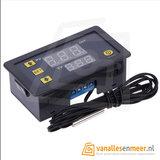 LCD Temperatuur display met controller  12V/DC