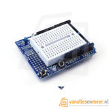Prototype shield Arduino uno met mini breadboard