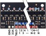 QTRX-HD-31RC Reflectiesensor Array: 31-kanaals, 4 mm, RC-uitgang, lage stroom  Pololu 4331