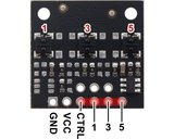 QTRX-MD-03A Reflectiesensor Array: 3-kanaals, 8 mm pitch, analoge output, lage stroom  Pololu 4443