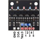 QTRX-HD-05A Reflectiesensor Array: 5-kanaals, 4 mm pitch, analoge output, lage stroom Pololu 4405
