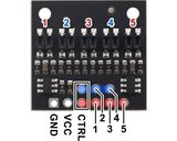 QTR-HD-05A Reflectiesensor-array: 5-kanaals, 4 mm pitch, analoge output Pololu 4205