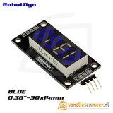 4-Digit LED Display, Blauw, 7-segments, TM1637, 30x14mm