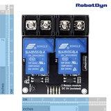 Relaismodule 2 relais, 5V, 30A RobotDyn