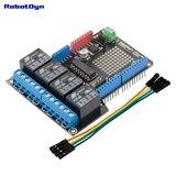 Relay Shield for Arduino Uno, 4 relays  Robotdyn