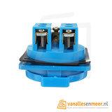 PCE Inbouw contactdoos blauw 230V 16A IP54