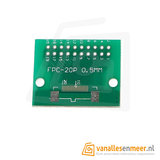 FPC/FFC flat cable PCB 20P 1mm met connector