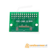 FPC/FFC flat cable PCB 26P 1mm met connector
