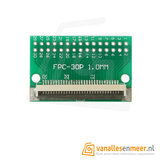 FPC/FFC flat cable PCB 30P 1mm met connector