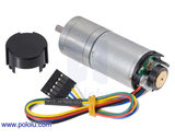20.4:1 Metal Gearmotor 25Dx65L mm HP 12V with 48 CPR Encoder Pololu 2843