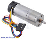 9.7:1 Metal Gearmotor 25Dx63L mm HP 12V with 48 CPR Encoder Pololu 2842