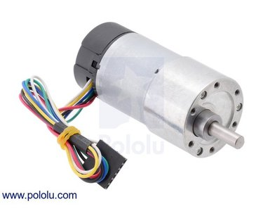 131:1 Metal Gearmotor 37Dx73L mm with 64 CPR Encoder (Helical Pinion) Pololu 4756