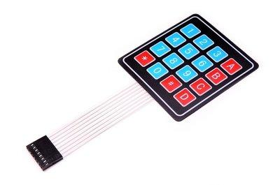 4x4 Membrane matrix keypad Paneel