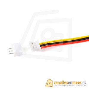 PH2.0 JST 3pin set recht met kabel 20cm