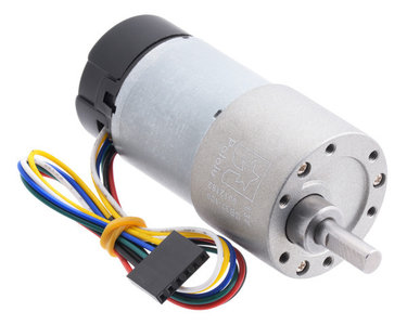30:1 Metal Gearmotor 37Dx68L mm with 64 CPR Encoder (Helical Pinion) Pololu 4752