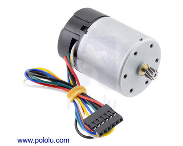 Motor with 64 CPR Encoder for 37D mm Metal Gearmotors (No Gearbox, Helical Pinion) Pololu 4750