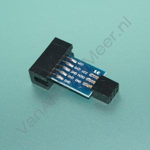 verloop Atmel AVR 10 naar 6 pins