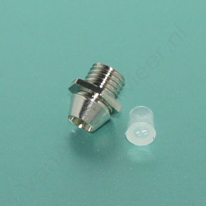 3mm Led fitting metaal chrome