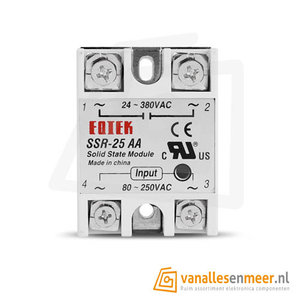 SSR-25AA Solid state relais 3-32V / 25A / 24-380VAC