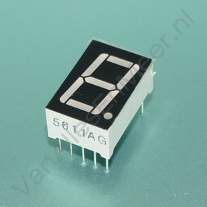 7 Segment 1 digits LED display Rood CC