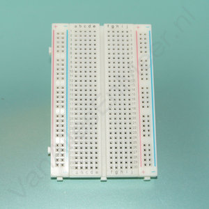 Breadboard 400  pins MB102 Wit