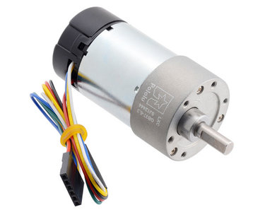 100:1 Metal Gearmotor 37Dx73L mm 24V with 64 CPR Encoder (Helical Pinion) Pololu 4695