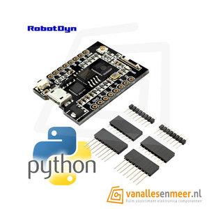 MicroPython board ESP8266 mini format, Wi-Fi CP2104