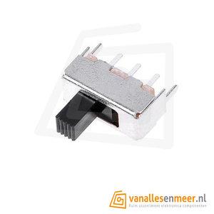 Schuifschakelaar on-on Slide Switch SS12D07VG4 3pin