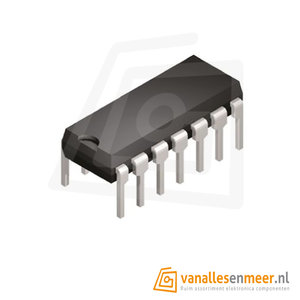 IC 74LS07 Buffer Driver Non Inverting Dip14